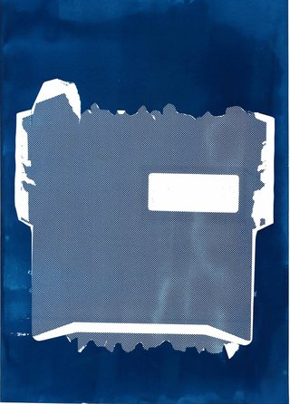 ___'Junkmail'___, cyanotype prints, 2018